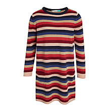 Buy John Lewis Girls' Sequin Elbow Patch Striped Dress, Multi Online at johnlewis.com