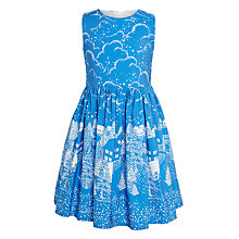 Buy John Lewis Girls' Border Print Prom Dress, Bright Blue Online at johnlewis.com