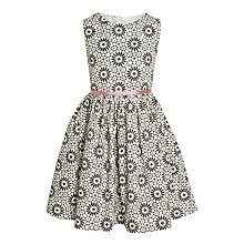 Buy John Lewis Girls' Geometric Prom Dress, Gardenia Online at johnlewis.com