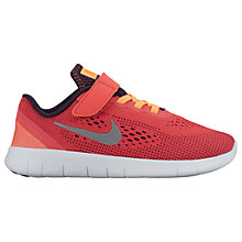 Buy Nike Children's Free Run PS Trainers, Coral Online at johnlewis.com