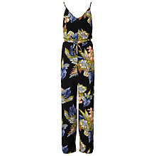 Buy Miss Selfridge Palm Print Piping Jumpsuit, Multi Online at johnlewis.com