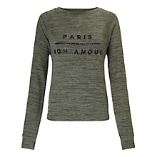 Buy Miss Selfridge Petite Paris Sweatshirt, Khaki Online at johnlewis.com