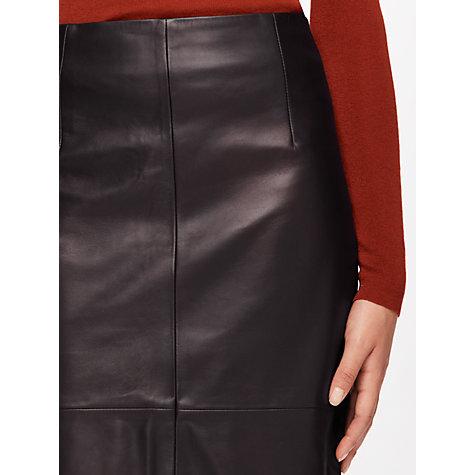 buy jigsaw leather high waisted pencil skirt lewis