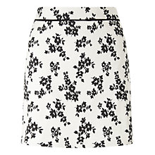 Buy Miss Selfridge Mono Floral Jacquard Skirt, Multi Online at johnlewis.com