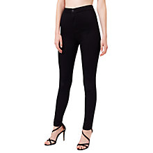 Buy Miss Selfridge Super High Waist Jeans, Black Online at johnlewis.com