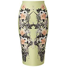 Buy Miss Selfridge Tropical Pencil Skirt, Lime Online at johnlewis.com