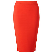 Buy Miss Selfridge Rib Pencil Skirt, Red Online at johnlewis.com