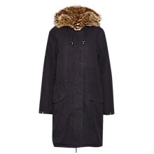 Buy French Connection Cocoon Cotton Parka, Black Online at johnlewis.com