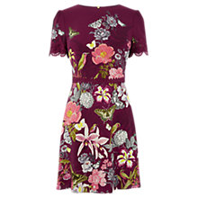 Buy Oasis Botany Lace Dress, Berry Online at johnlewis.com
