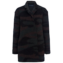 Buy French Connection Camo Felt Coat, Black/Multi Online at johnlewis.com