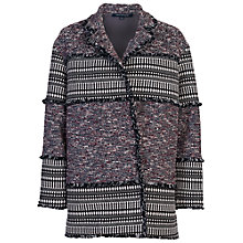 Buy French Connection Pixel Coat, Black Multi Online at johnlewis.com