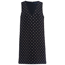 Buy French Connection Diamond Drop Jersey Dress, Black/Diamante Online at johnlewis.com