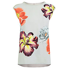 Buy Oasis Wrap Back Top, Mid Grey Online at johnlewis.com