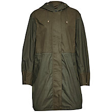 Buy French Connection Mili Canvas Summer Parka, Dark Olive Night/Olive Night Online at johnlewis.com