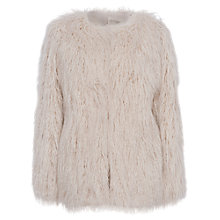 Buy French Connection Marissa Faux Fur Jacket, Classic Cream Online at johnlewis.com