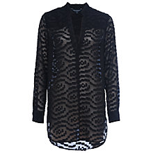 Buy French Connection Ruby Sheer Pull Over Shirt Online at johnlewis.com