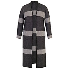 Buy Chesca Block Stripe Cardigan, Black/Ivory Online at johnlewis.com