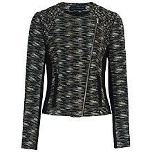 Buy French Connection City Camo Biker Jacket, Olive Night/Multi Online at johnlewis.com