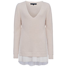 Buy French Connection Taurus V-Neck Jumper, Classic Cream/Winter White Online at johnlewis.com