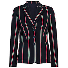 Buy French Connection Freddy Stripe Blazer, Indigo/Cream/Red Online at johnlewis.com
