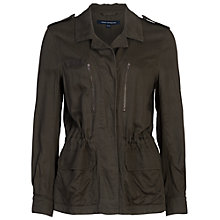 Buy French Connection Utility Twill Jacket, Dark Olive Night Online at johnlewis.com