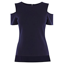 Buy Karen Millen Essential Jersey Top, Navy Online at johnlewis.com