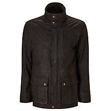 Buy John Lewis Premium Leather Dog Walker Jacket, Dark Mahogany Online at johnlewis.com