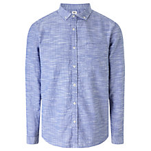 Buy Kin by John Lewis Slub Grid Shirt, Indigo Online at johnlewis.com