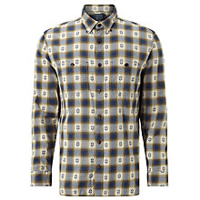 Buy JOHN LEWIS & Co. Intarsia Twill Shirt, Navy Online at johnlewis.com