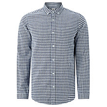 Buy Kin by John Lewis Textured Weave Check Shirt, Blue/Ecru Online at johnlewis.com
