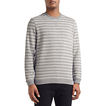 Buy Kin by John Lewis Jaspe Stripe Sweatshirt, Grey Online at johnlewis.com