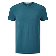 Buy Kin by John Lewis Pique Cotton Crew T-Shirt, Blue Online at johnlewis.com
