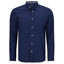 Buy John Lewis Fil Coupe Cotton Regular Fit Shirt, Navy Online at johnlewis.com
