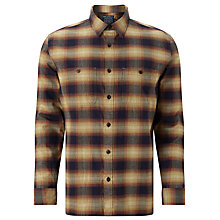 Buy JOHN LEWIS & Co. Michigan Ombre Check Shirt, Red Gold Online at johnlewis.com