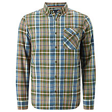 Buy John Lewis Flannel Check Regular Fit Shirt, Green Online at johnlewis.com