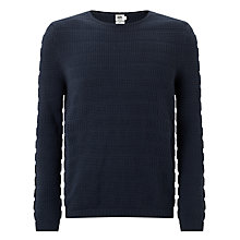 Buy Kin by John Lewis Texture Stitch Stripe Jumper, Navy Online at johnlewis.com
