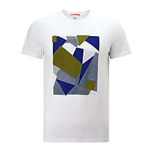 Buy Kin by John Lewis Bitmap Cube Print T-Shirt, White Online at johnlewis.com