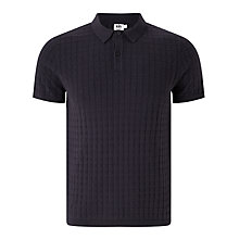 Buy Kin by John Lewis Large Waffle Stitch Polo Shirt, Navy Online at johnlewis.com