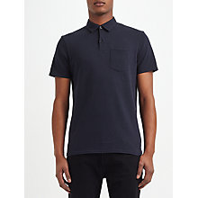 Buy Kin by John Lewis Pointelle Polo Shirt, Navy Online at johnlewis.com