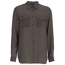 Buy French Connection Pippa Plains Classic Shirt, Dark Olive Night Online at johnlewis.com