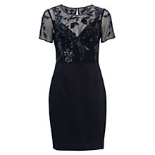Buy French Connection Horizon Light Embellished Dress, Black Online at johnlewis.com