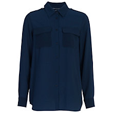 Buy French Connection Pippa Plains Shirt, Nocturnal Online at johnlewis.com