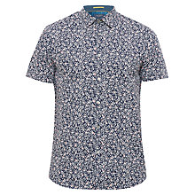 Buy Ted Baker Thorshr Short Sleeve Shirt, Navy Online at johnlewis.com