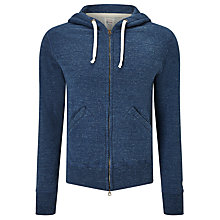 Buy Champion + Todd Snyder Zip Through Hooded Sweatshirt, Indigo Heather Online at johnlewis.com