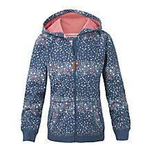 Buy Fat Face Girls' Ditsy Floral Zip Through Hoodie, Mid Navy Online at johnlewis.com