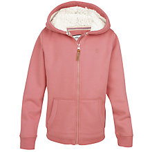 Buy Fat Face Girls' Owl Totem Hoodie, Dusty Pink/Multi Online at johnlewis.com