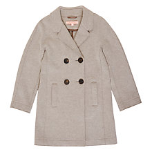 Buy Jigsaw Girls' Raw Edge Jersey Coat Online at johnlewis.com