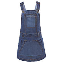 Buy Fat Face Girls' Denim Dungaree Dress, Blue Online at johnlewis.com