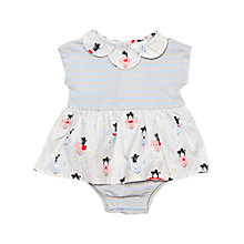 Buy Margherita Kids Baby Striped Japanese Print Bodysuit, Lunar Rock/Multi Online at johnlewis.com