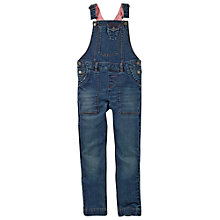 Buy Fat Face Girls' Denim Dungarees, Blue Online at johnlewis.com